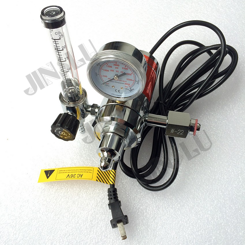 BS341 W22 CO2 Gas Regulator Gauge with Heater 36V  Flow Meter Mig Welding Welder JINSLU nt1 3t air cooled gas metal arc welding gun north mig welding torch coupled with twe co fitting 3 meter