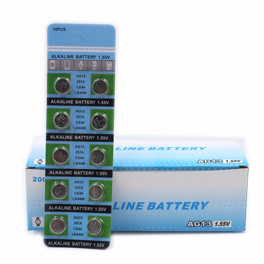 Free Shippingg 10PCS Alkaline Battery AG13 1.5V LR44 386 Button Coin Cell Watch Toys Batteries Control Remote SR43 186 LR1142