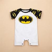 Superman Batman Print Baby Boy Rompers Short Sleeve Novelty Newborn Baby Girl Clothes Toddler Summer Birthday