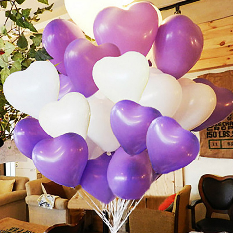10pcs Heart Shaped Balloon 2 2g Wedding Brithday Love Marriage Party Room Decorate Birthday Red Purple Pink White In Ballons Accessories From Home