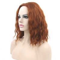 Soowee Short Curly Black Blonde Cosplay Wigs Party Hair Red Gray Heat Resistance Fiber Synthetic Hair Wig for Women