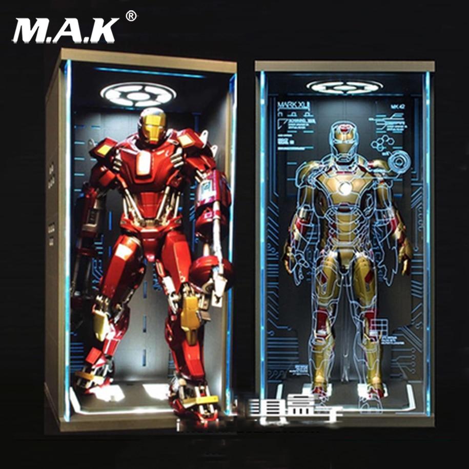 Brinquedos-Box 1/6 Ganeku selada à prova de poeira holograma 4.0 Caixa de Exibição Ajuste MK43 MK1 MK2 MK46 Homem De Ferro