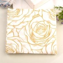 2packs 40pcs FOOD GRADE Golden Rose Floral Flower theme Napkins Wedding Napkin Paper Wood Tissue for Party Decoration