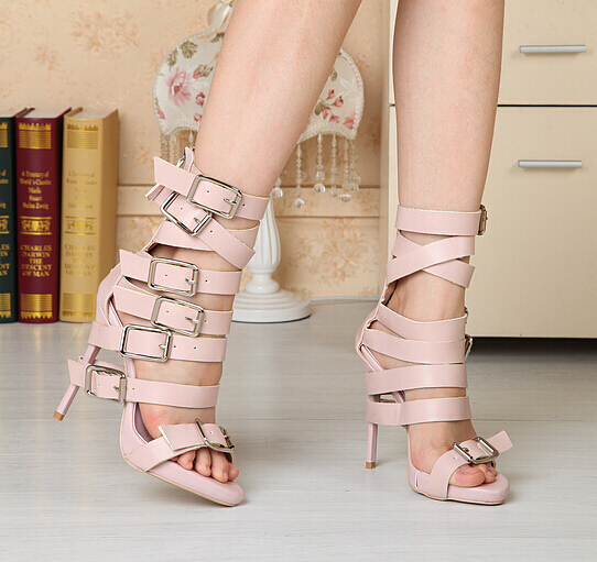 Aliexpress.com : Buy women summer heels 2015 Black/ Nude Color ...