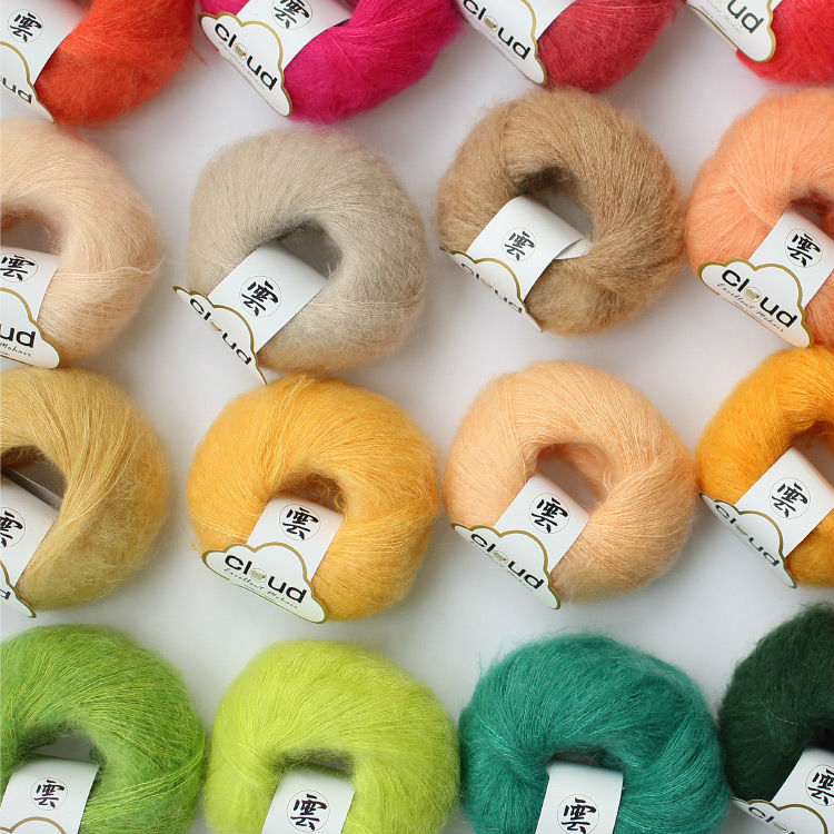 Free shipping 20g/ball Mohair Yarn Hand-Woven Thin Thread The Scarf Shawl B