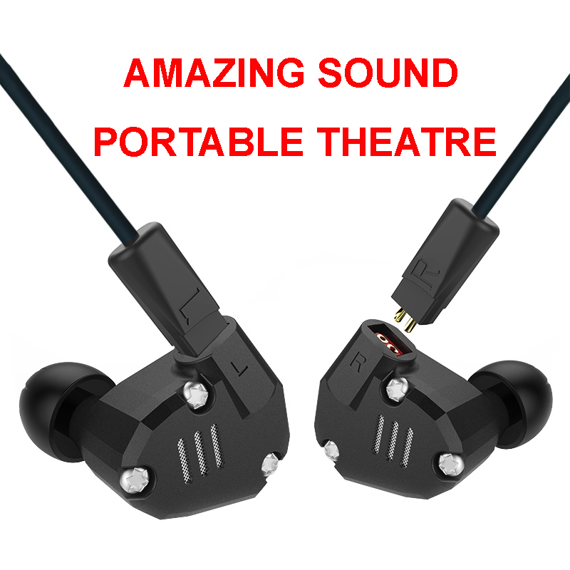 KZ ZS6 Best Quality Sport Earphone Metal HiFi Headphone 8 Drivers Dynamic Armature Hybrid Amazing Sound Portable Theatre Cinema kz zs6 best quality sport earphone metal hifi headphone 8 drivers dynamic armature hybrid amazing sound portable theatre cinema