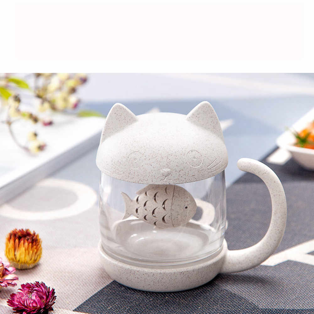 New Creative Tea Strainer Cat Monkey Tea Infuser Cup Grasses Teapot Teabags for Tea & Coffee Filter Drinkware Christmas Gift fk4
