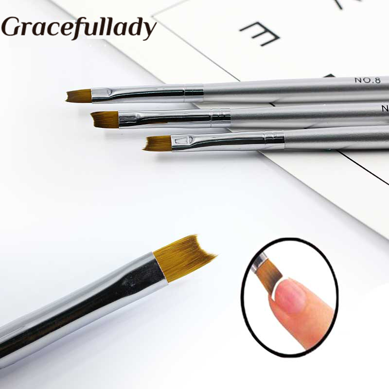 1 unids Nail Art Brush French Half Moon Polish Tips decoración UV Gel pintura dibujo manicura pluma herramientas DIY accesorio