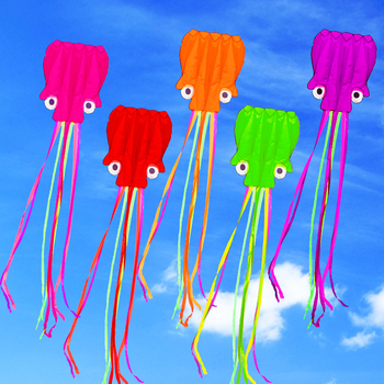 цена на free shipping high quality soft octopus kite with handle line outdoor toys flying kite reel windsock large kite game jouer