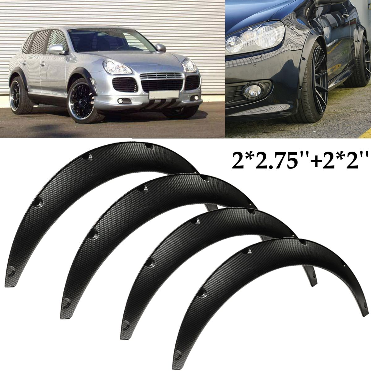 цена Carbon Fiber Flexible Car Body For Fender Flares Extension Wide Wheel Arches For Mazda/Nissan RX-7 200SX 240SX 300ZX 1980-2015