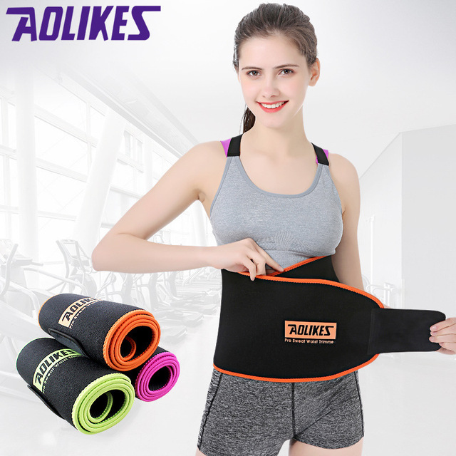 Women Sports Fitness Exercise Waist Band Pro Sweat Waist Trimmer Protector Female Belly Shaper Thin Adjustable Training Belt 1