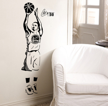 Free shipping diy wallpaper Basketball superstar Stephen Curry wall stickers Home Decoration Stickers home mural