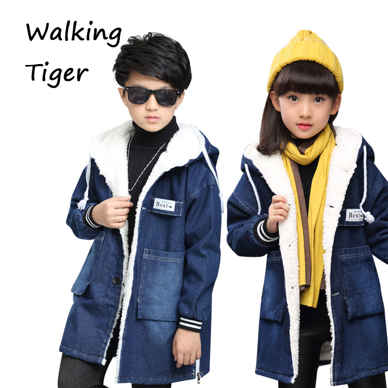 Children coats winter 2017 boys cowboys Outerwear kids clothing fashion boy thicken lambs wool Jackets boy winter coats hot sales children clothing thickening hooded cotton jackets fashion warm baby boy coats clothes outerwear kids