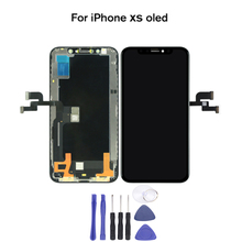 For iPhone XS LCD Touch Screen No Dead Pixel AMOLED OEM Panel Assembly Display Replacement Spare Part+Assemble Tool