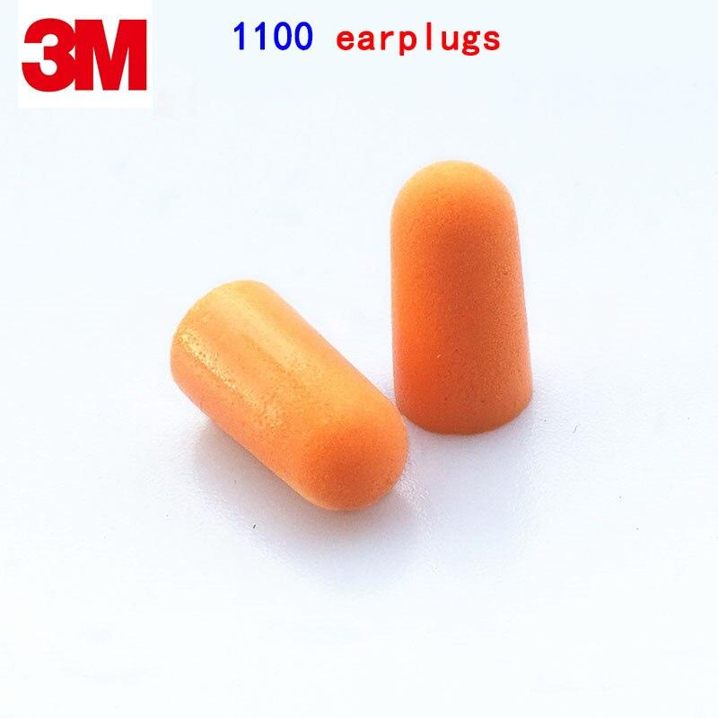 3M 1100 Wireless earplugs Practicality Can be cleaned ear plug jobs Learn Sleep rest Foam earplugs беруши 3m 1100 противошум 5пар