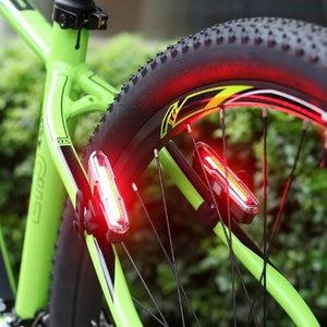 Image 5 - Передний и задний велосипедный фонарь с зарядкой через USB, светодиодный задний фонарь на литиевом аккумуляторе для велосипеда, светильник для шлема, крепление, велосипедные аксессуары