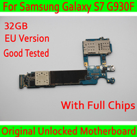 For Samsung Galaxy S7 G930F Motherboard 32gb with Android System,EU Version 100% Original unlocked for Galaxy S7 G930F Mainboard