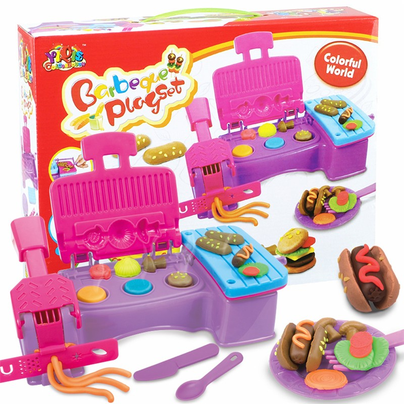 Barbecue Series Color Clay Mud Tool Kit Mould font b Toys b font Plasticine Mold Suit