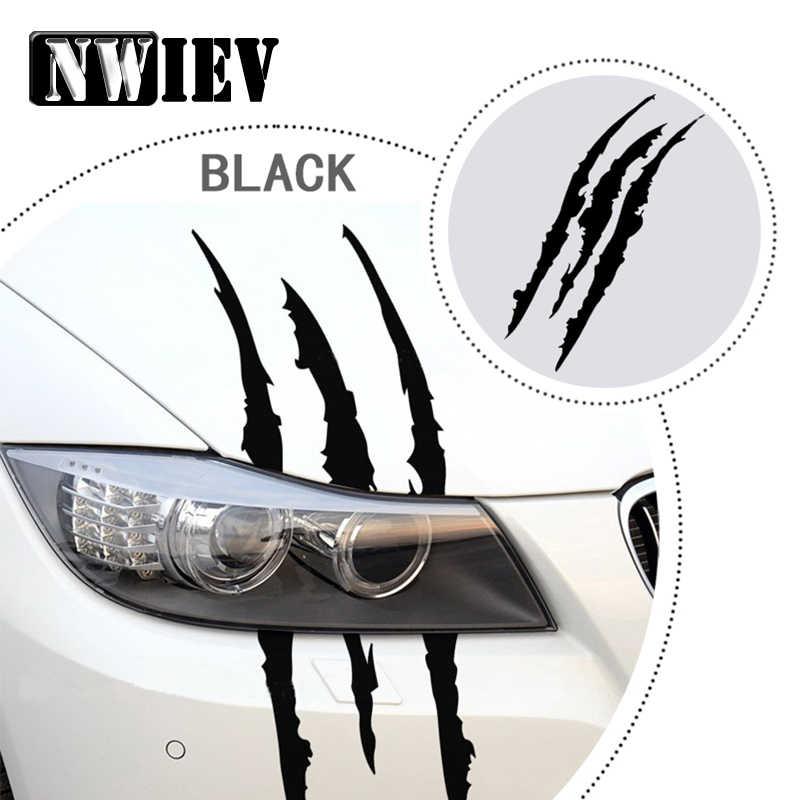 NWIEV автомобильный Стайлинг наклейки полоска от царапин наклейка для фар Volkswagen VW