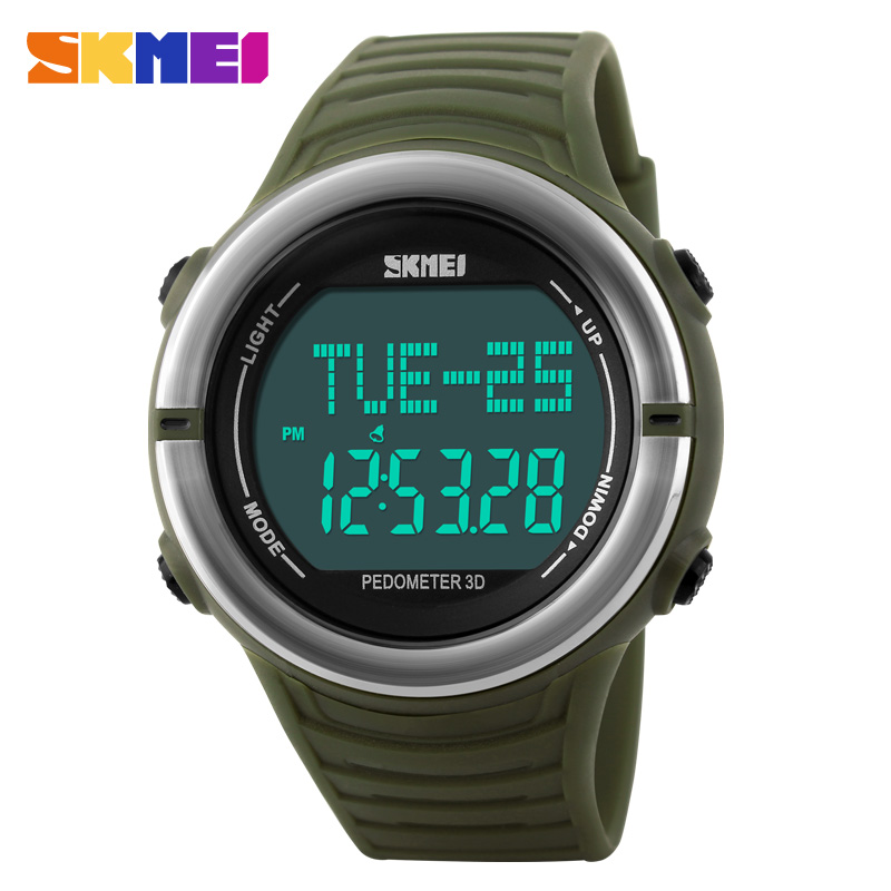 SKMEI Sport Running Pedometer Wristwatch For Men Women Heart Rate Monitor Digital Watch Multifunction Waterproof Sports Watches цена и фото
