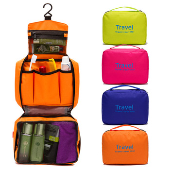 Travel Wash Bag Fold Waterproof Multifunction Suspension Cosmetic Bag Shower Room Dressing Room Cases Trave Convenient Articles quick opening dressing shower fishing tent one touch waterproof camping toilet changing room with carrying bag