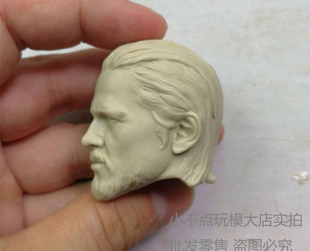 Free Shipping 1//6 scale Custom Head Sculpt Charlie Hunnam Jax Teller unpainted