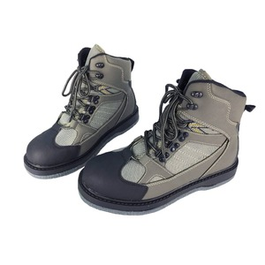 Image 1 - Fly Fishing Shoes Wading Hunting Upstream Leaking Water Shoe Felt Sole Breathable Professional Rock Leather Lace up Shoes FM2