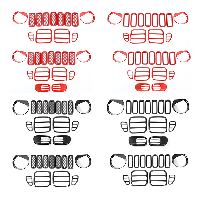 MOPAI ABS Car Exterior Tail+Head light Lamp Grille Cover Decoration Kit Stickers For Jeep Renegade 2015 Up Car Styling цена и фото