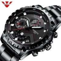 NIBOSI Relogio Masculino Watch Men Fashion Sport Quartz Clock Mens Watches Top Brand Luxury Full Steel Business Waterproof Watch