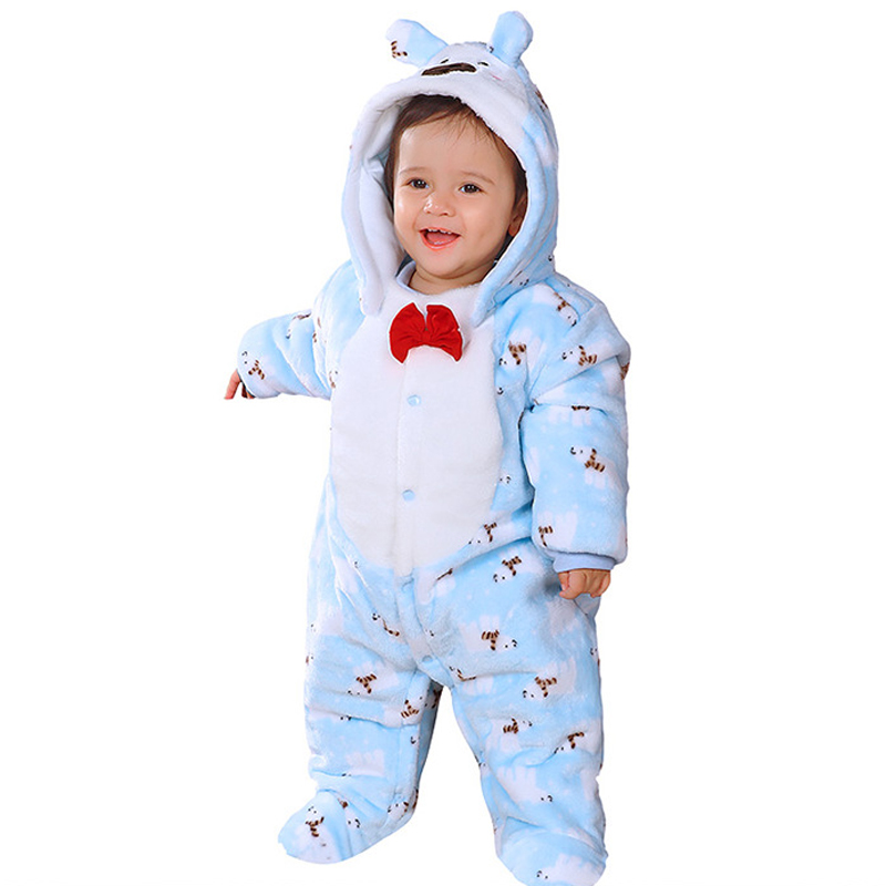 Newborn Infant Clothes Girls Romper  Baby Boy Flannel Jumpsuits Baby Girl Cotton-padded Overalls Infant Clothing Autumn & Winter newborn baby rompers autumn winter package feet baby clothes polar fleece infant overalls baby boy girl jumpsuits clothing set