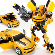 Hot sale Robocar Transformation Robots Bumblebee Car model Classic Toys Action Figure Gifts For Children boy toys 42cm