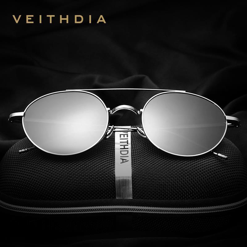 VEITHDIA Brand Unisex Fashion Sun Glasses Polarized Coating Mirror Classic Sunglasses Round Male Eyewear For Men/Women 3617