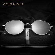 VEITHDIA Brand Unisex Fashion Sun Glasses Polarized Coating Mirror Classic Sunglasses Round Male Eyewear For Men/Women 3617