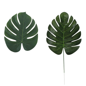 Image 5 - 5pcs Gold Green High Quality Fake Leaf Artificial Tropical Palm Leaves DIY Plant Home Party Wedding Table Desk Party Decoration