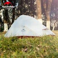 Naturehike 2 человек Сверхлегкий Кемпинг пеший туризм палатка облако до новый обновленный Бесплатная устойчивая 20D силиконовые 4 сезон водонепро
