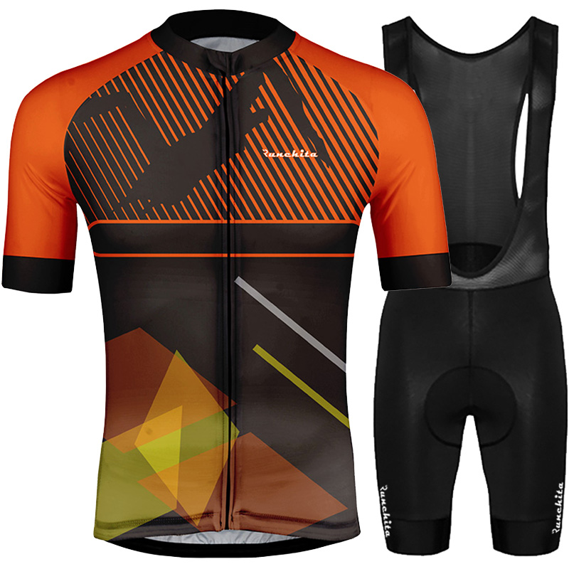 Maillot ciclismo hombre verano RUNCHITA 2019 MTB training contest pro cycling jersey summer short sleeve set Bicycle Sport Wear