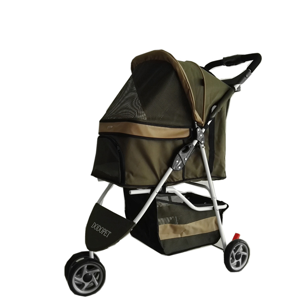 2016 Newly Designed Pet Stroller Cat / Dog Easy Walk Folding Travel Carrier Carriage 3 in1 puppy