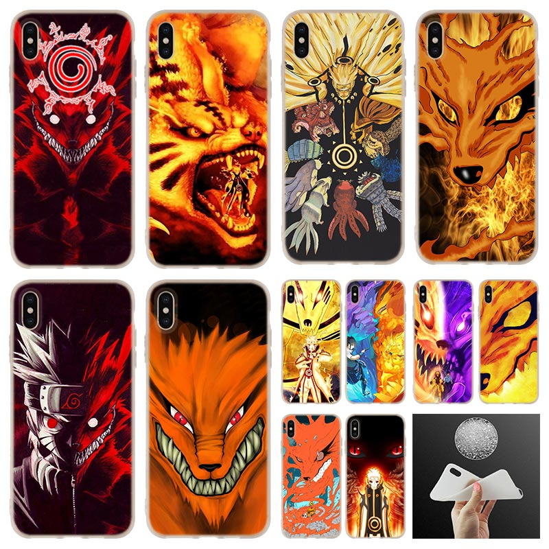the nine tailed fox fangs red eyes naruto Phone Case cover For iPhone 11 Pro 7 8 Plus XR XS Max 4 5 5S SE 6 6s Funda Etui Cases image