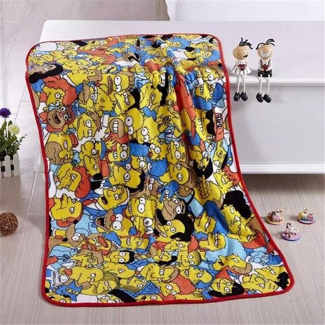 Конверт для новорожденных Мультфильм ватки коралла Пеленать ребенка одеяло Новая Мода детские одеяла Симпсон Детское Постельное Белье Size75 * 125