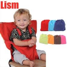 Детское портативное сиденье Lism, детское кресло для путешествий, складное, моющееся, для младенцев, для столовой, высокое, для столовой, чехол для сиденья, ремень безопасности, для кормления, стульчик для кормления