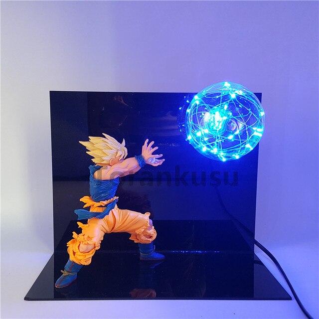 Dragon Ball Z Goku Action Figure Super Saiyan Kamehameha Led Light Anime Dragon  Ball Z Figurine