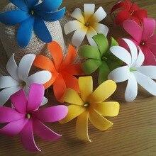 F002 100 шт/Партия 15 см 8 цветов пена tiare гребень для волос Женская одежда Аксессуары для волос Hawaii тропический цветок