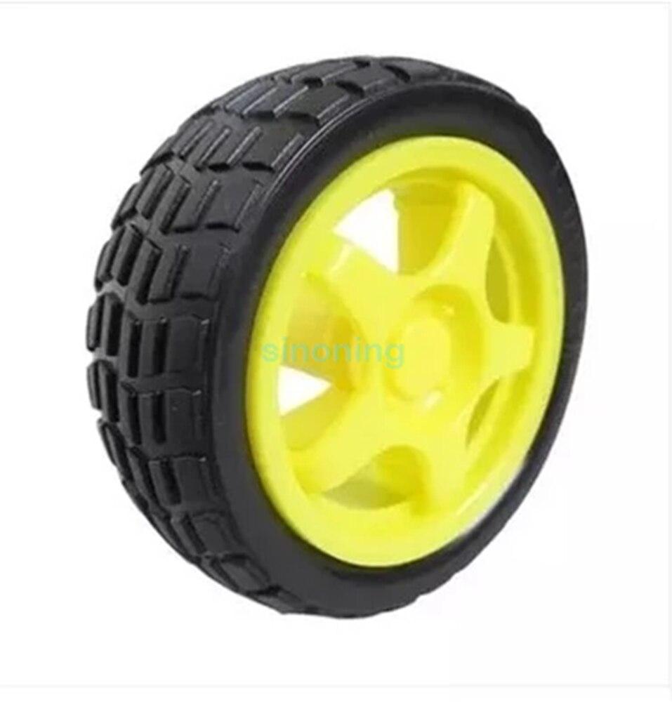4pcs Smart Car Model Robot Plastic Tire Wheel 65x26mm for arduino rear wheel hub for mazda 3 bk 2003 2008 bbm2 26 15xa bbm2 26 15xb bp4k 26 15xa bp4k 26 15xb bp4k 26 15xc bp4k 26 15xd