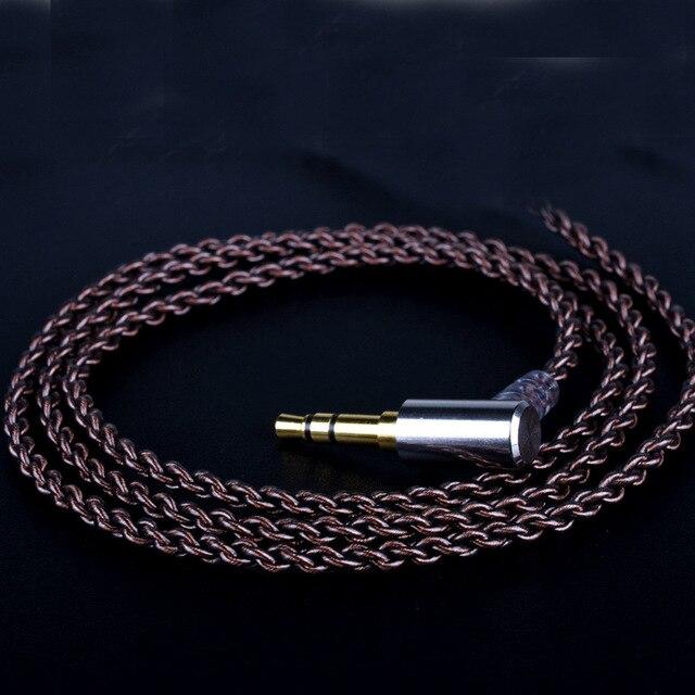 Tiandirenhe mejora DIY MMCX Cable para Shure SE215 SE425 SE535 SE846 auriculares AUX 3,5mm Cable con tubo termoretráctil