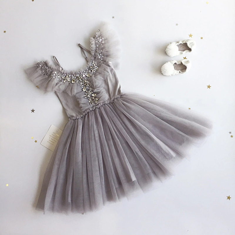 Little Girls Dress Off Shoulder Sequin Princess Dress For Birthday Party Kids Dresses For Girls Costume Children Wedding Dress