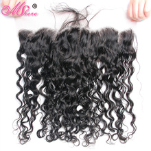 Pre Plucked Peruvian Water Wave Lace Frontal with Baby Hair Mshere Remy Hair Ear to Ear 13*4 closure 10 20 inches