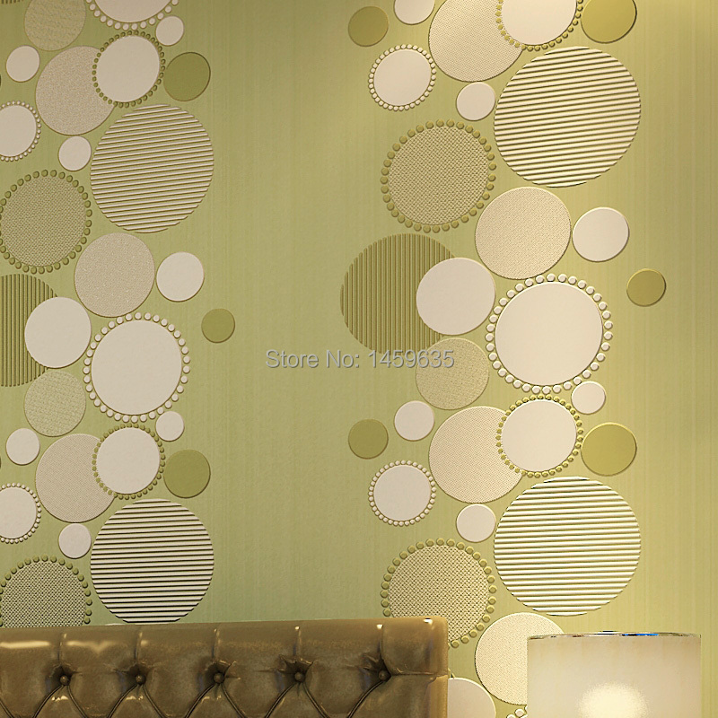 New 3d modern minimalist wall paper for walls,circle pattern non-woven wallpaper for tv background and living room and bedroom