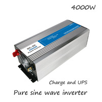DC AC 4000W Pure Sine Wave Inverter 12V To 220V Converters With Charge UPS Electric Power Supply LED Digital Display USB China