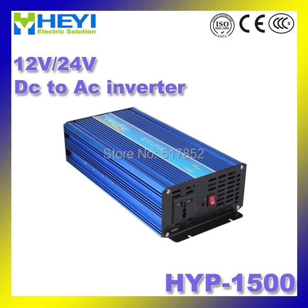 Dc To Ac Inverter HYP-1500 12/24V Pure Sine Wave inverter 50/60Hz high efficiency Power Inverter Soft start мультиметр uyigao ac dc ua18