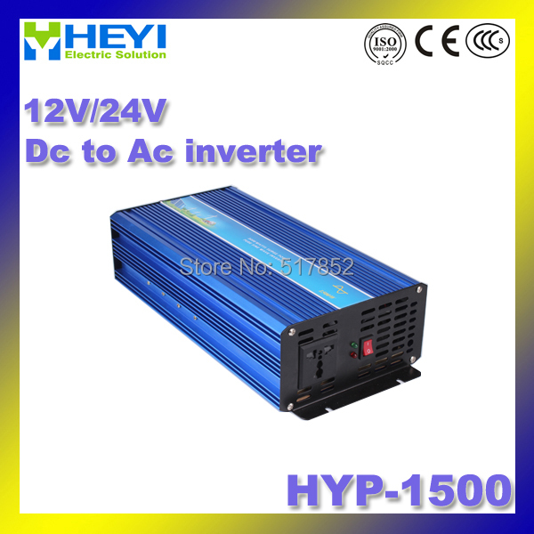 цена на Dc To Ac Inverter HYP-1500 12/24V Pure Sine Wave inverter 50/60Hz high efficiency Power Inverter Soft start